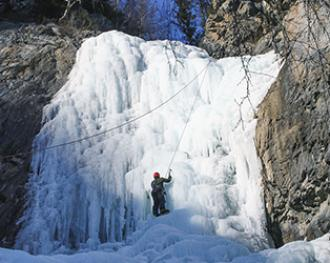 Ледолазание на водопаде Ширлак